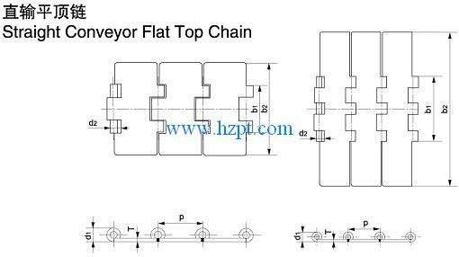 Straight Conveyor Flat Top Chain