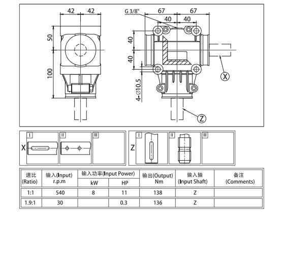 agricultural-gearbox EP 23 For Multiple Application & For Fertilizer Spreader