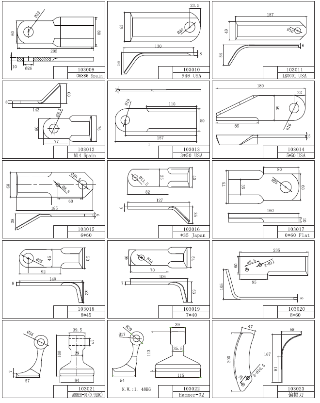 Flail Mower Blade
