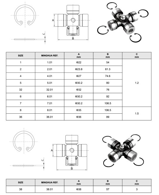 A CROSS JOURNAL For Agricultural Pto SHAFT